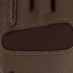 Rijhandschoenen GRIPPY voor volwassenen en kinderen ruitersport bruin