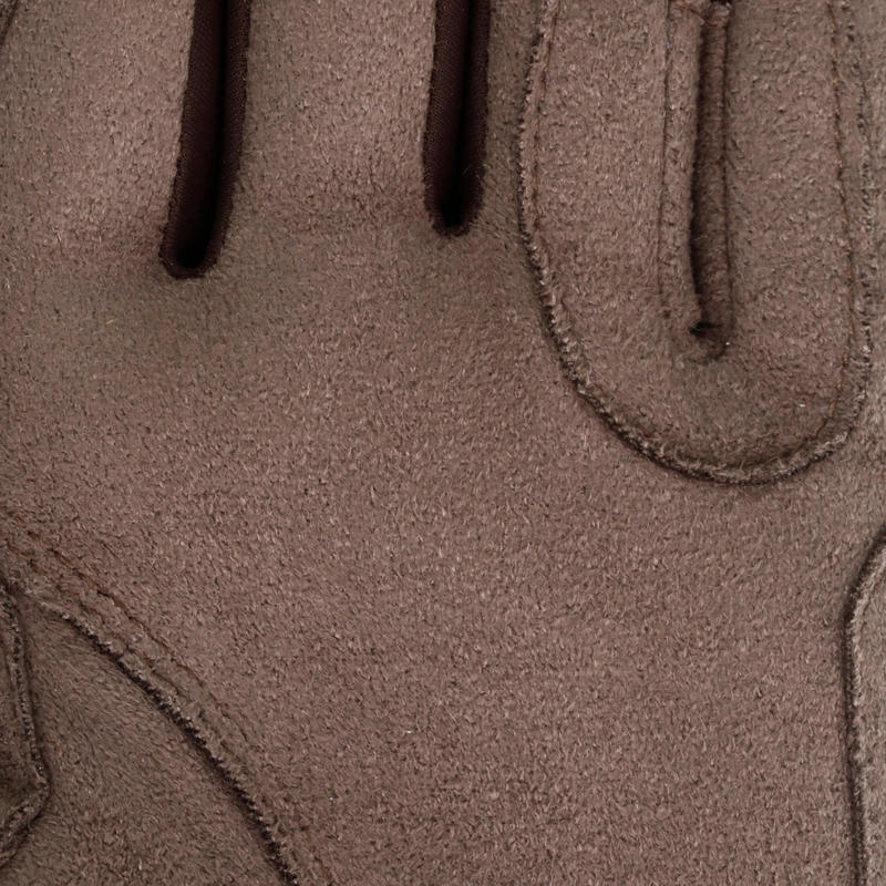 Grippy Adult and Children's Horse Riding Gloves - Brown
