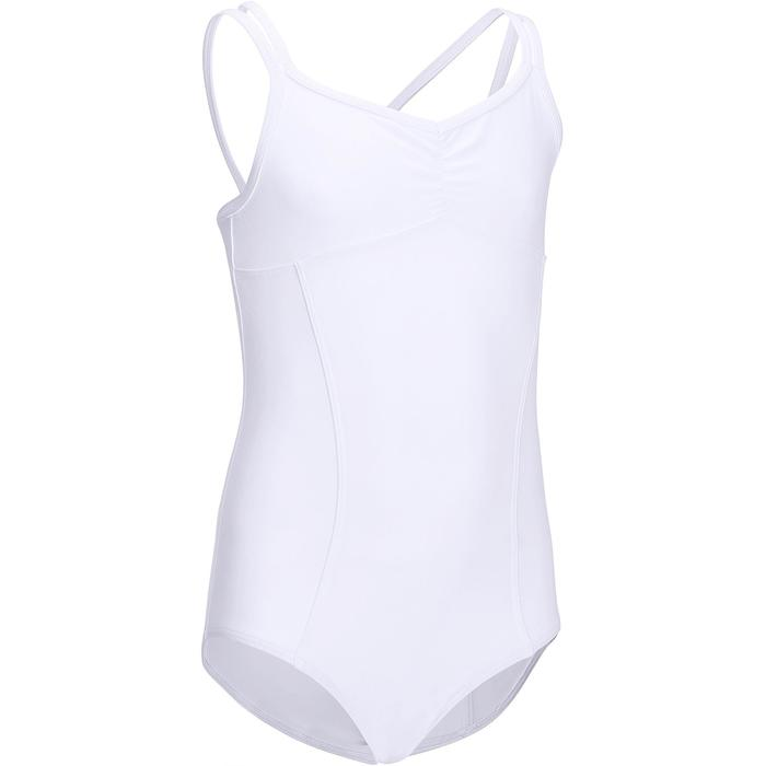 Justaucorps de danse classique fines bretelles fille SYLVIA blanc - 693961