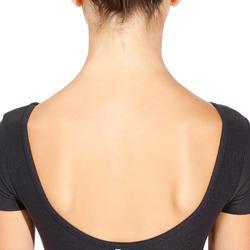 Girls' Short-Sleeved Ballet Leotard - Black