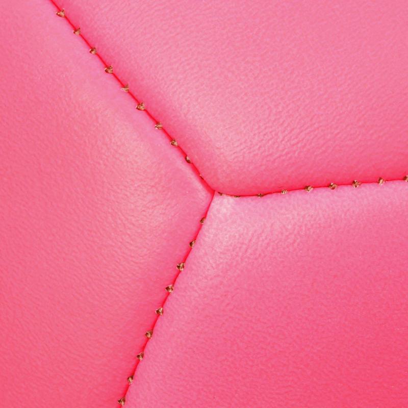 Balón de fútbol Sunny 500 talla 5 rosado negro