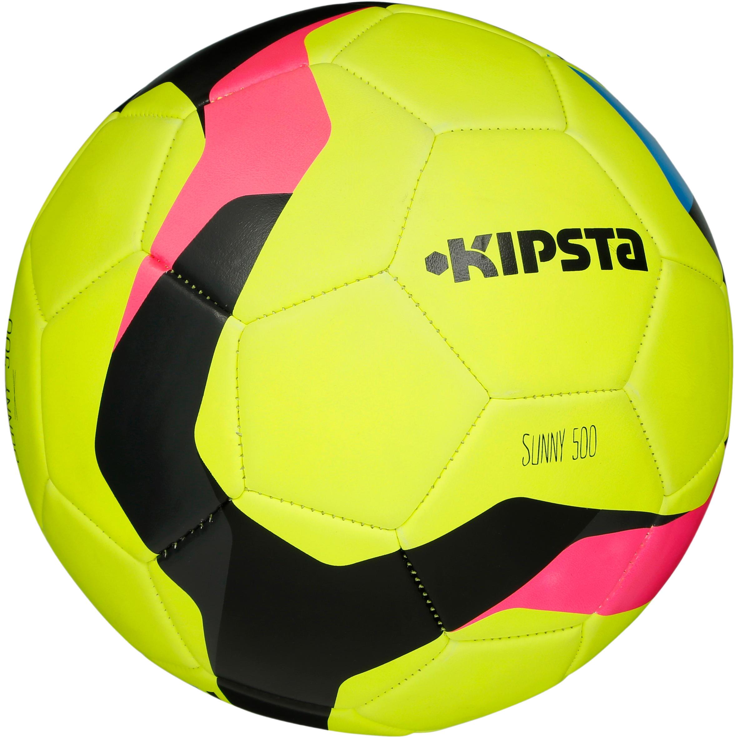 Balón de fútbol Sunny 500 talla 5 amarillo rosa negro Kipsta  1db324d12ea17