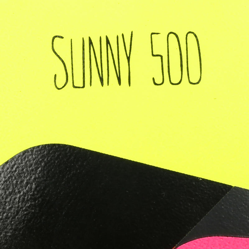 Sunny 500 Football Size 5 - Yellow/Pink/Black