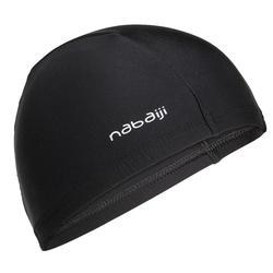 網布游泳帽- 黑色