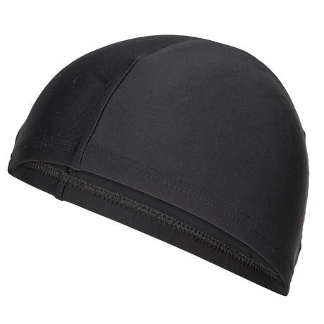 bonnet de bain en tissu maille noir nabaiji. Black Bedroom Furniture Sets. Home Design Ideas