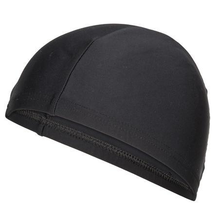Bonnet de bain en tissu maille noir taille P et G