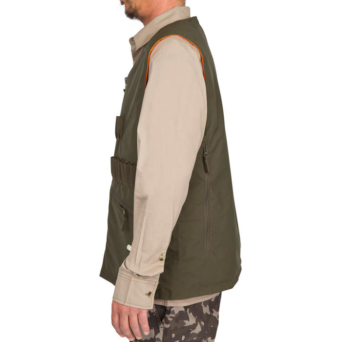 Gilet chasse Steppe 300 réversible fluo - 69456