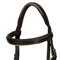 Horse & Pony Leather Bridle with French Noseband & Reins Edinburgh 500 - Brown