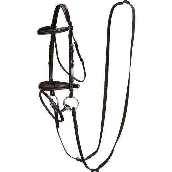 Hoofdstel + teugels Edimburgh ruitersport - pony en paard - 694567