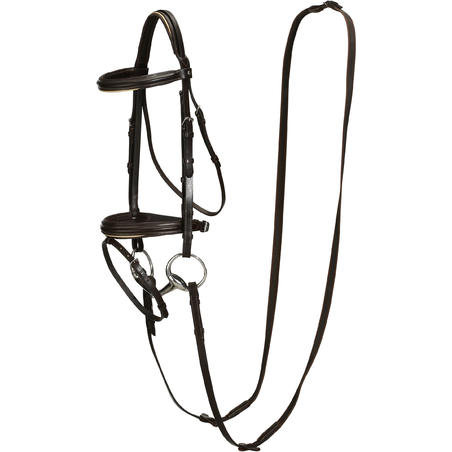Edinburgh Horseback and Pony Riding Bridle and Reins - Brown