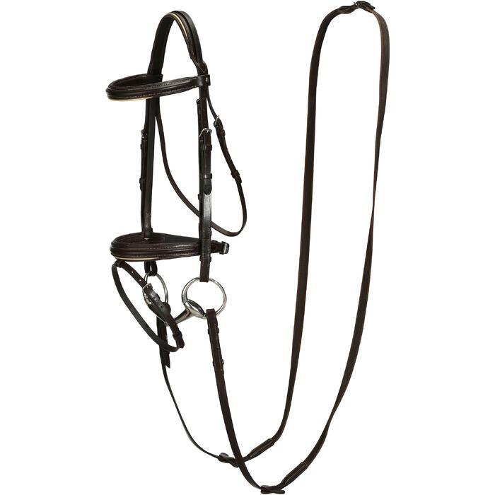 Filet + rênes équitation cheval et poney EDIMBURGH - 694567