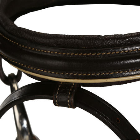 Edinburgh Horse and Pony Riding Bridle And Reins - Brown