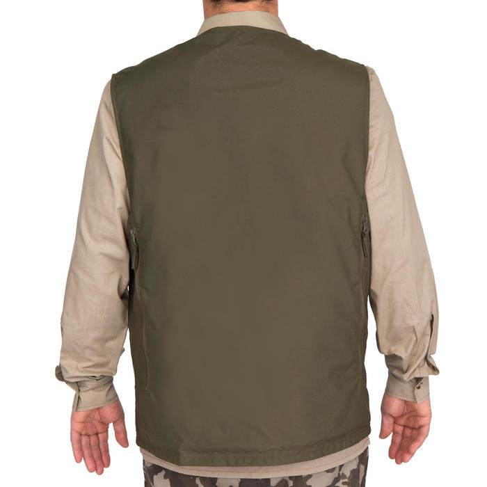 Gilet chasse Steppe 300 réversible fluo - 69457