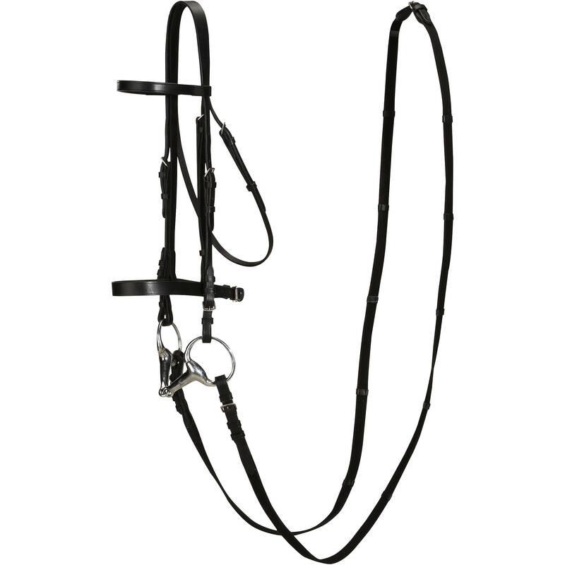 UZDĚNÍ Jezdectví - UZDEČKA A OTĚŽE SCHOOLING KŮŽE FOUGANZA - Vybavení pro koně