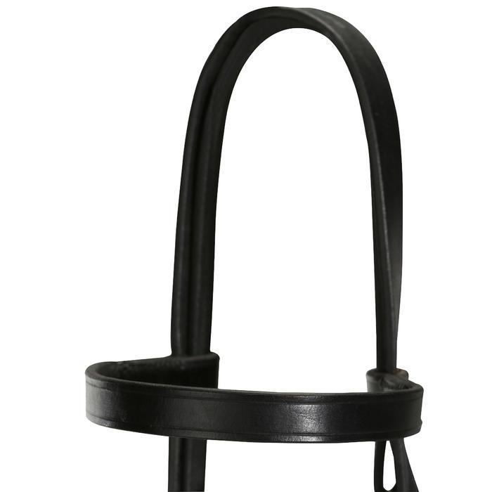 Filet + rênes équitation cheval et poney SCHOOLING cuir noir - 694581
