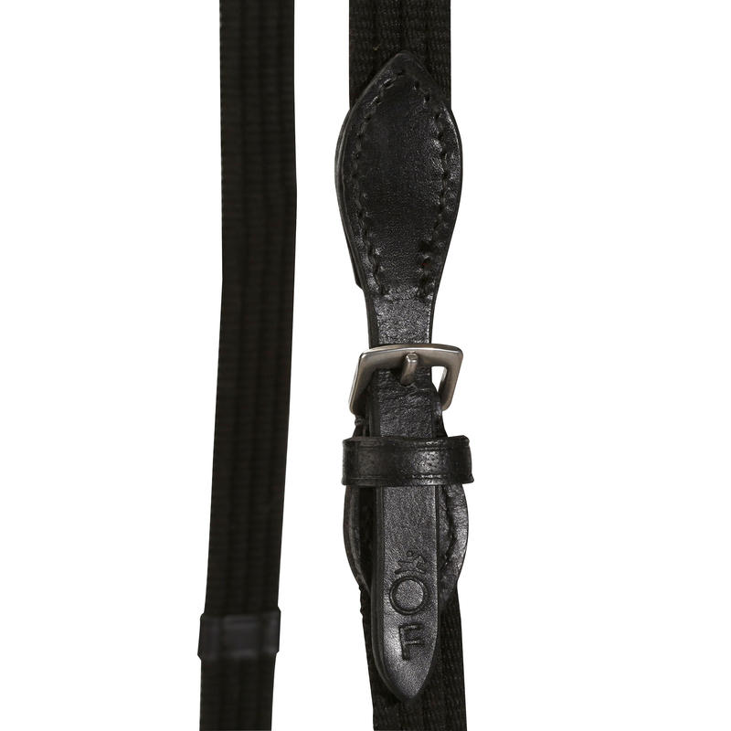 Schooling Horse and Pony Riding Bridle + Reins - Black Leather