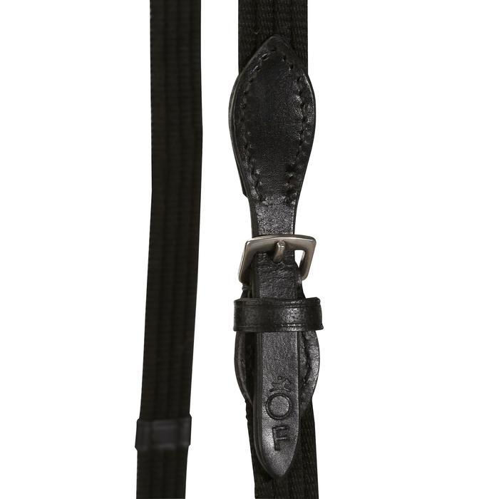 Filet + rênes équitation cheval et poney SCHOOLING cuir noir - 694587
