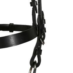 Serratón+riendas de equitación poni y caballo SCHOOLING cuero negro