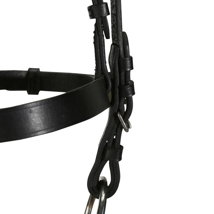 Filet + rênes équitation cheval et poney SCHOOLING cuir noir