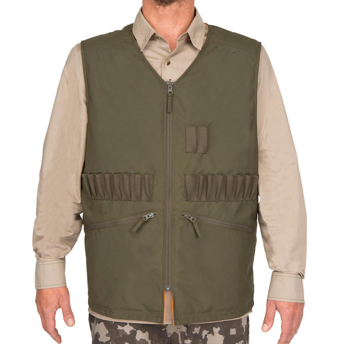 Gilet chasse Steppe 300 réversible fluo - 69459