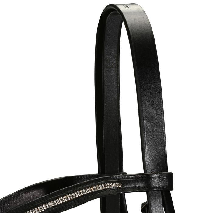 Filet + rênes équitation STRASS noir -  cheval - 694593