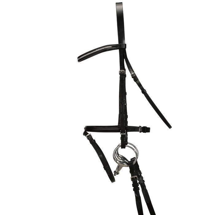 Filet + rênes équitation STRASS noir -  cheval - 694595
