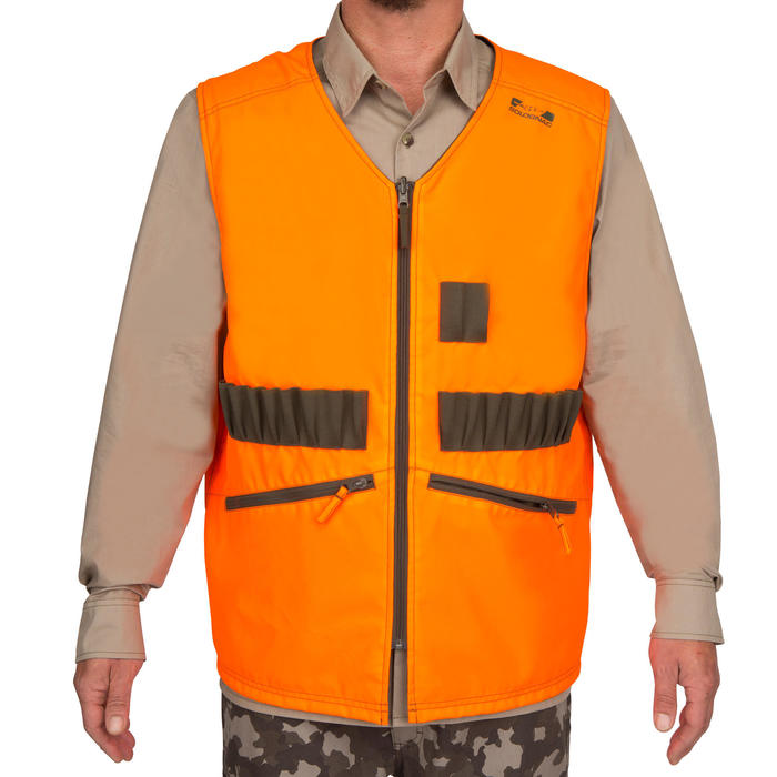 Gilet chasse Steppe 300 réversible fluo - 69462