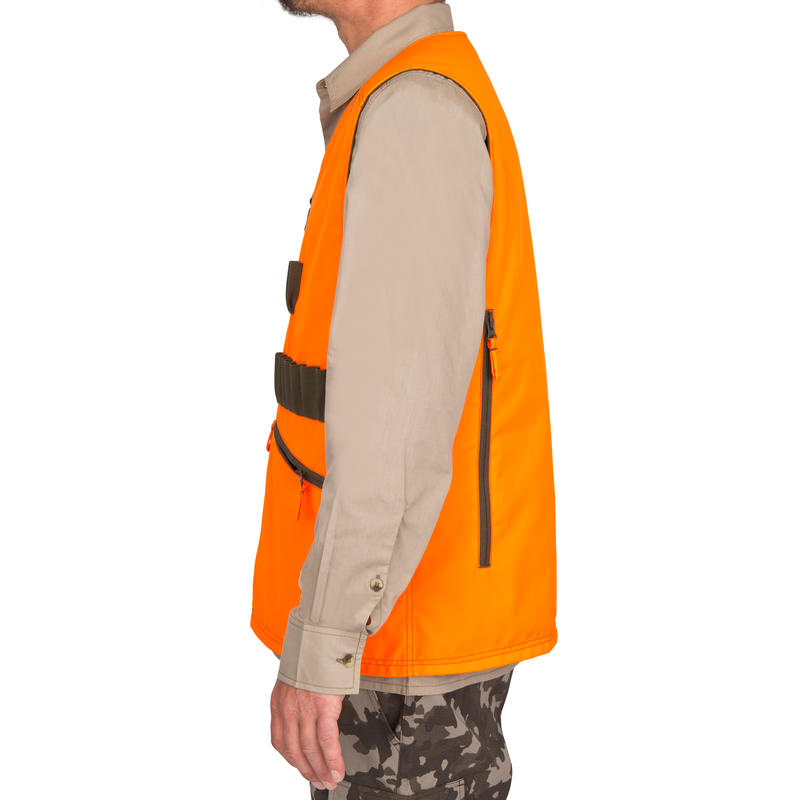 d4ee58bad403f STEPPE 300 REVERSIBLE HUNTING GILET - FLUO