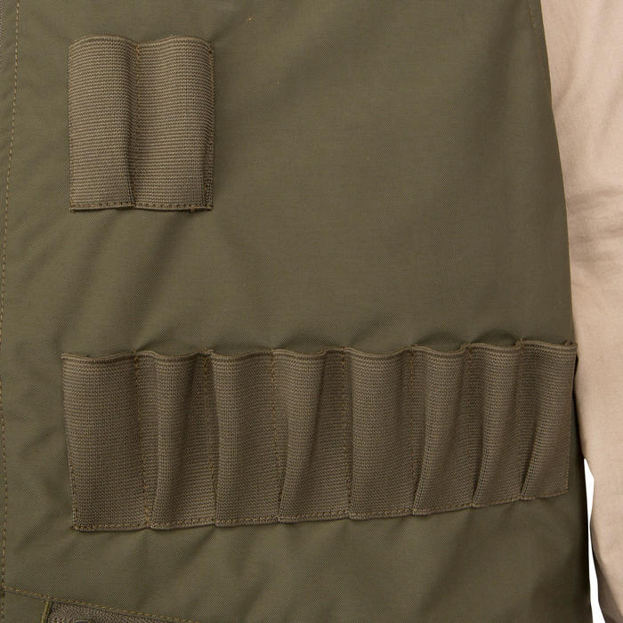 Gilet chasse Steppe 300 réversible fluo - 69465