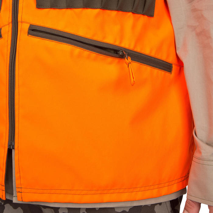 Gilet chasse Steppe 300 réversible fluo - 69470