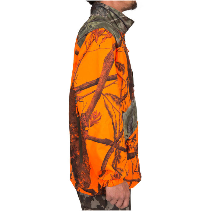 Veste chasse Steppe 100 CAMOUFLAGE FLUO - 69493
