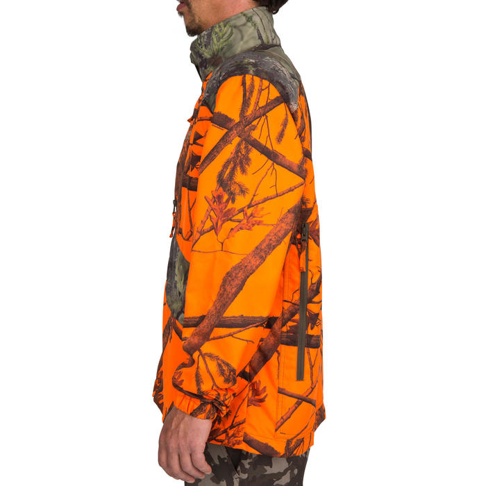 Veste chasse Steppe 100 CAMOUFLAGE FLUO - 69494