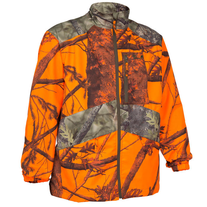 Veste chasse Steppe 100 CAMOUFLAGE FLUO - 69495