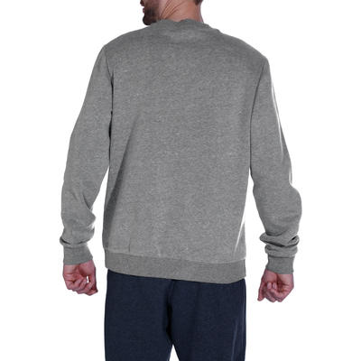 Crew Neck Gentle Gym Pilates Sweatshirt - Mottled Grey
