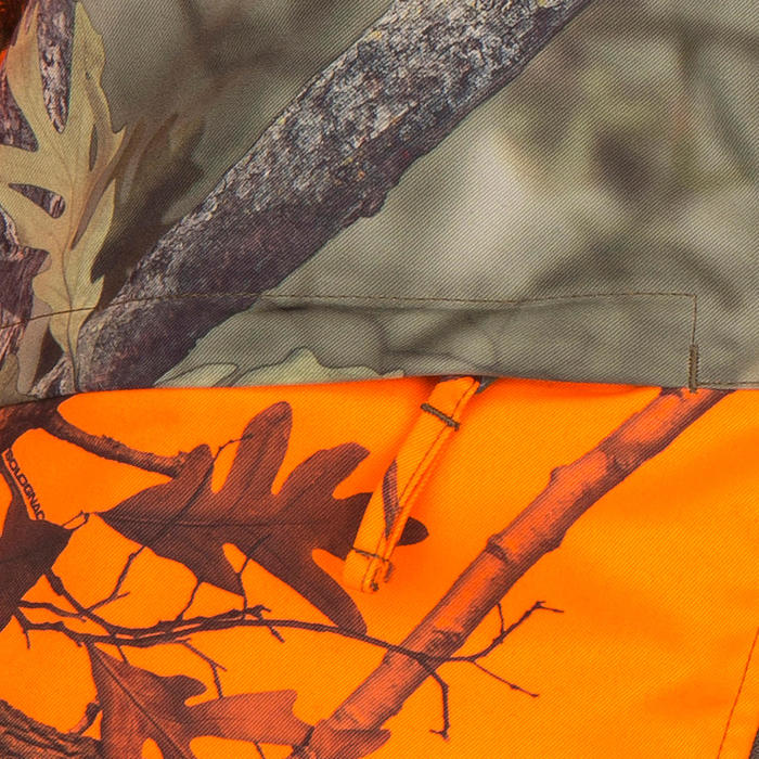 Veste chasse Steppe 100 CAMOUFLAGE FLUO - 69496
