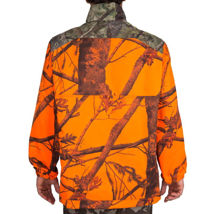Veste chasse Steppe 100 CAMOUFLAGE FLUO - 69497