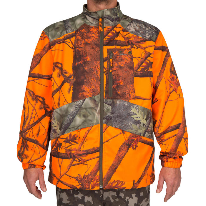 Veste chasse Steppe 100 CAMOUFLAGE FLUO - 69499