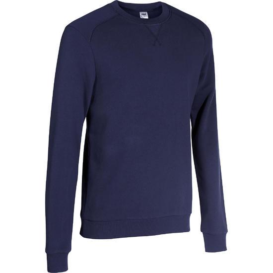 Herensweater met ronde hals voor fitness en pilates gemêleerd - 695039