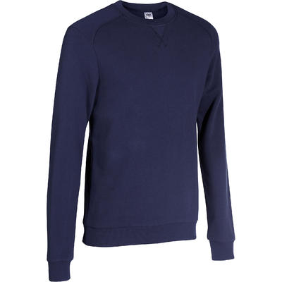 Crew Neck Gym & Pilates Sweatshirt - Navy Blue