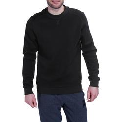 Herensweater met ronde hals voor fitness en pilates gemêleerd - 695050