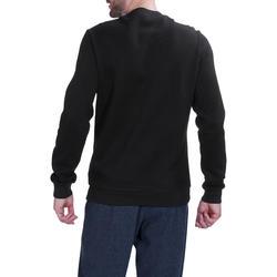 Herensweater met ronde hals voor fitness en pilates gemêleerd - 695053