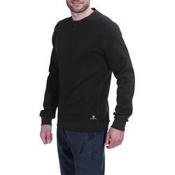 Herensweater met ronde hals voor fitness en pilates gemêleerd - 695054