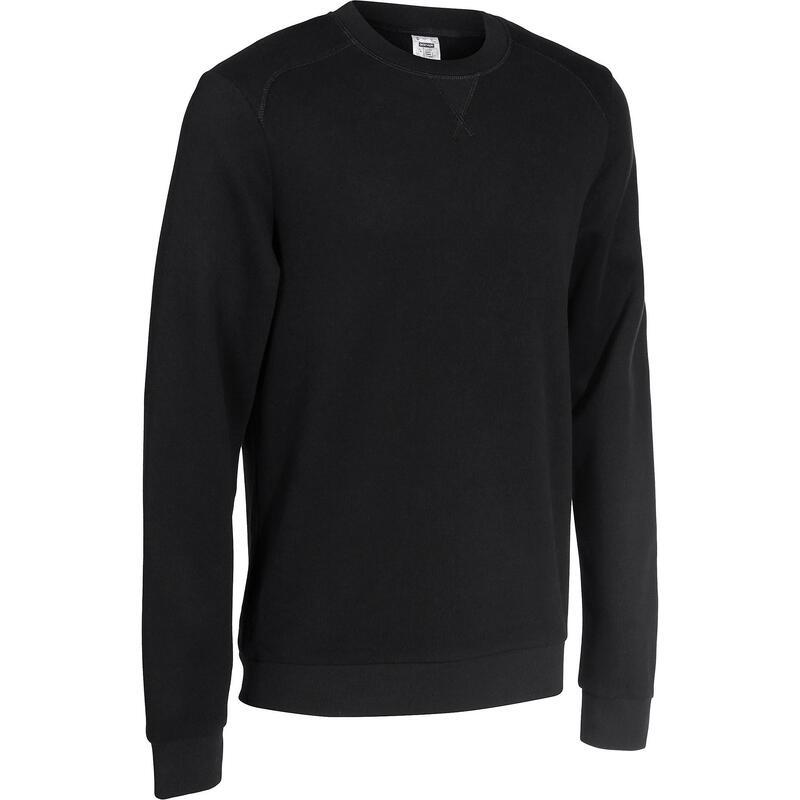 Bluză cu guler rotund pilates Negru Bărbați