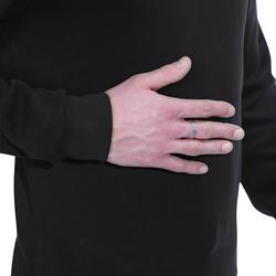 Herensweater met ronde hals voor fitness en pilates gemêleerd - 695060