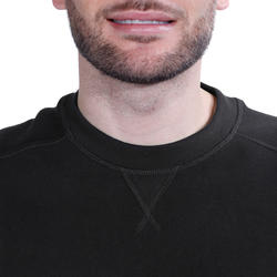 Herensweater met ronde hals voor fitness en pilates gemêleerd - 695069
