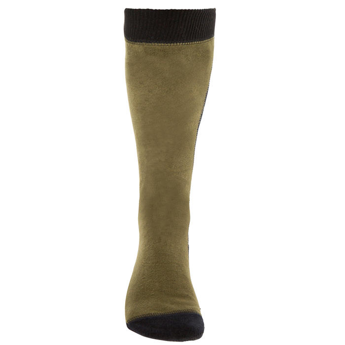 Chaussette chasse polaire Steppe 500 marron - 69507