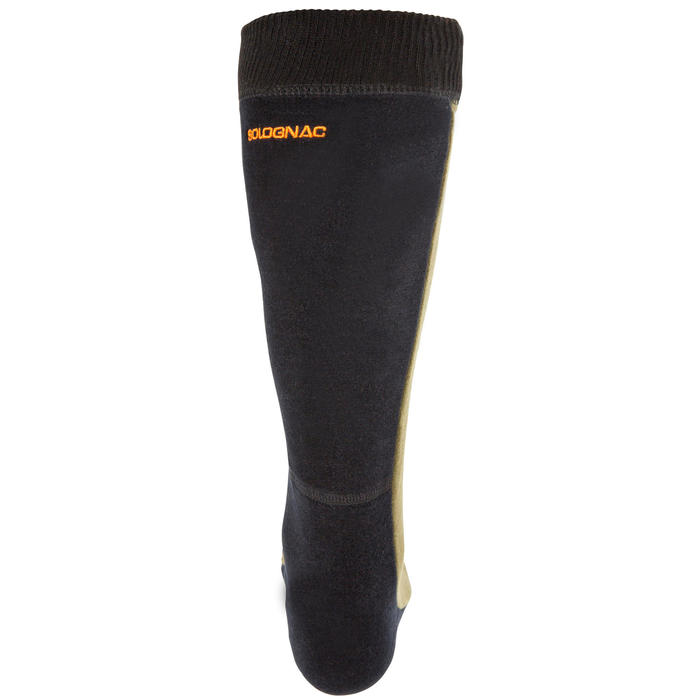 Chaussette chasse polaire Steppe 500 marron