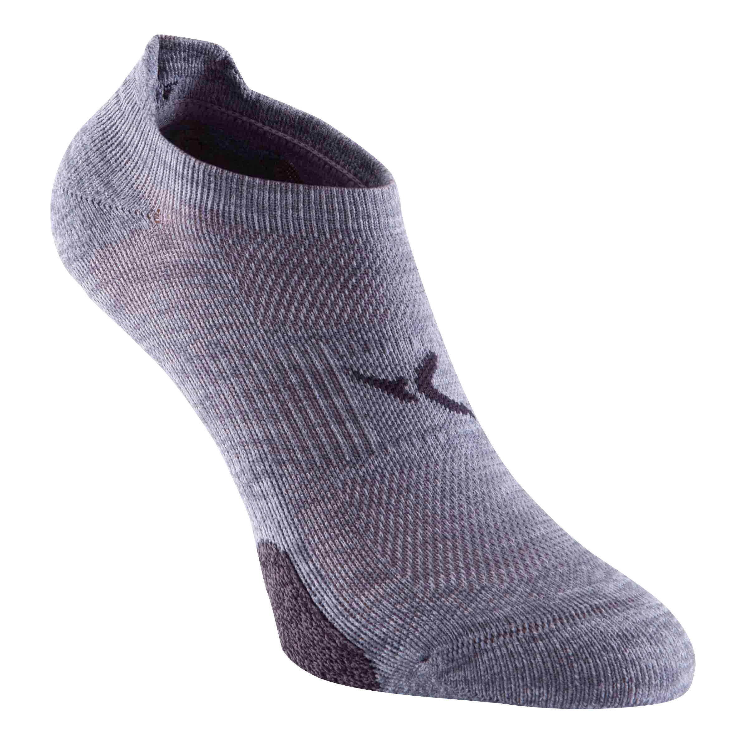 Calcetines invisibles fitness x 2 gris Domyos