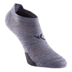 Calcetines Fitness Cardio Domyos Adulto Gris Pack 2 Invisibles