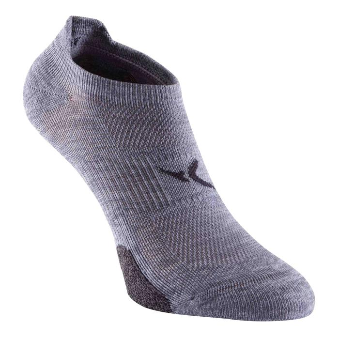 Chaussettes invisibles fitness cardio training x2 gris